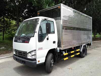 Xe tải thùng kín chở hàng